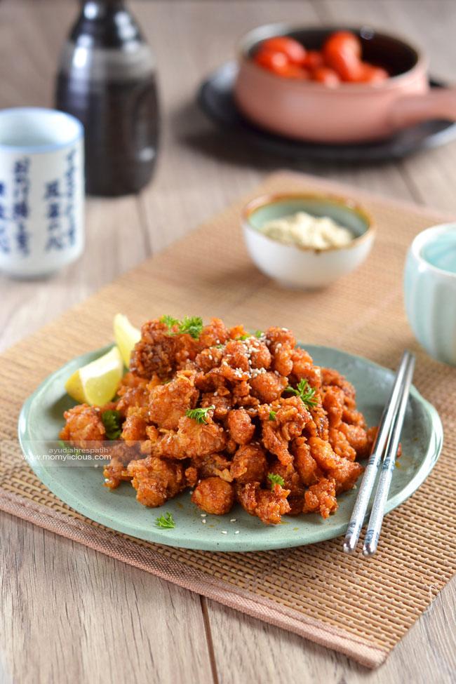 Chicken Popcorn dengan Saus A la Korea