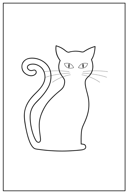 Download Wallpaper Coloriage chat noir