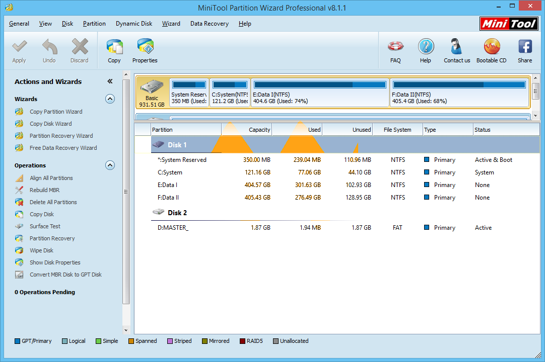 MiniTool Partition Wizard Professional 8.1.1 Full Version