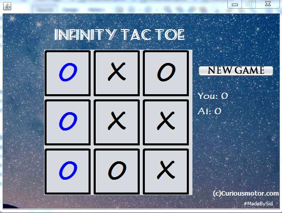 NetBeans Java project- TIC TAC TOE (AI) - logic explained