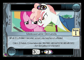 My Little Pony Unreasonable Demands Marks in Time CCG Card