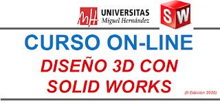 CURSO ONLINE: Diseño 3D con el software Solid Works.