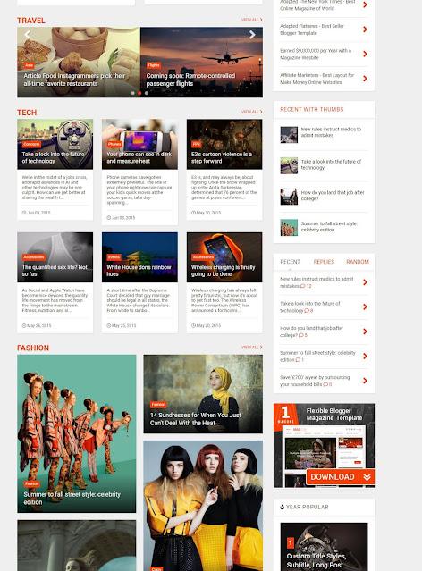 Download MagOne – Responsive Magazine Blogger Template