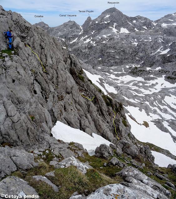Bajando de El Camperón en Picos de Europa.