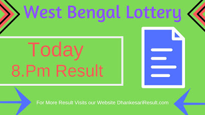 West Bengal State Lottery 30/03/2019 8.Pm Result Download