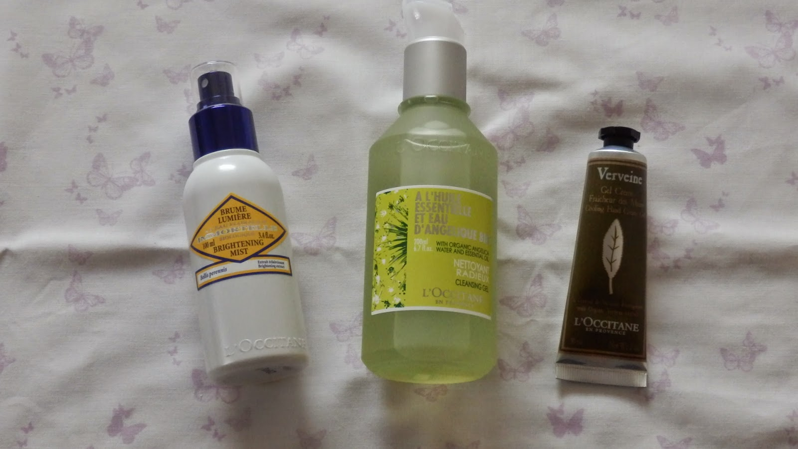 L'Occitane Instyle Shopping Event Haul Immortelle Brightening Mist, Angelica Cleansing Gel & Verveine Cooling Hand Gel