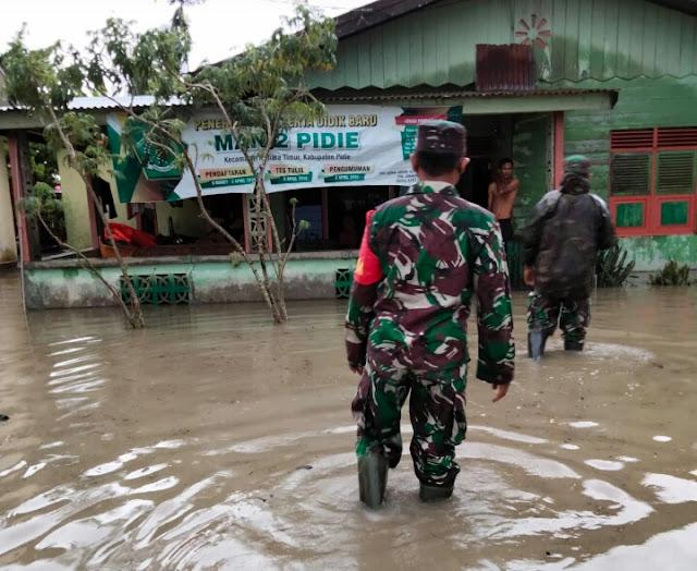 Gampong Palong Kembali banjir Puluhan Rumah Terendam