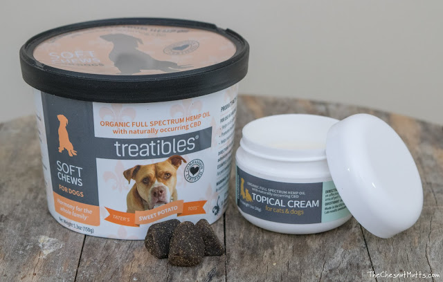 Treatibles CBD soft chews for dogs and CBD topical cream