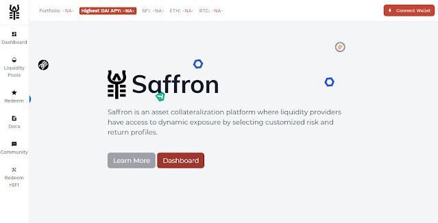 Website Safron.Finance (SFI)