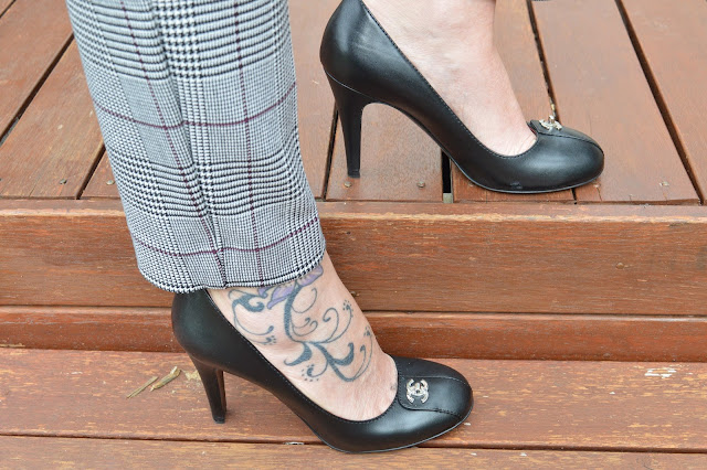 Sydney Fashion Hunter - Whatcha Wearing Wednesday #1 - Perfectly Plaid - Black Chanel Pumps