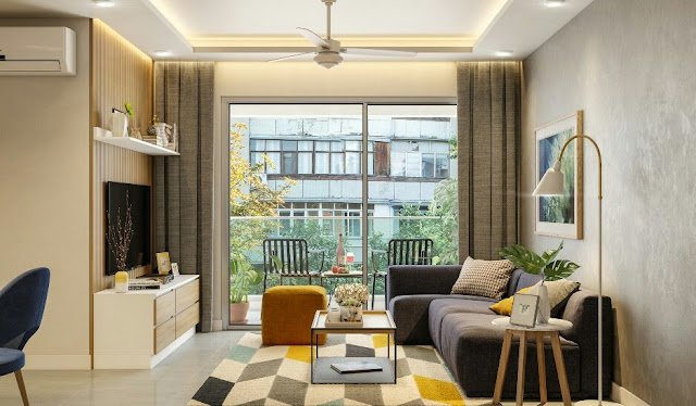 A Modern 2 BHK Apartment Design With Wood Work