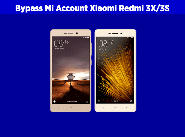 cara bypass mi account atau bypass mi cloud xiaomi redmi 3X 3S