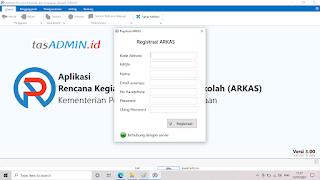 Registrasi Arkas Versi 3.00