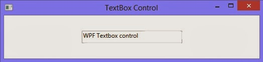 How to use Single line textbox in WPF XAML