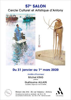 Affiche 57e salon cercle culturel et artistique d'Antony CCAA expo