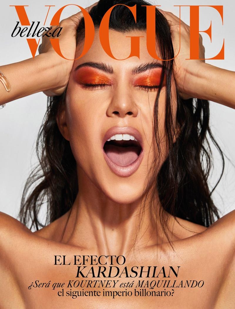 fb2830f9802f Kourtney Kardashian smoulders for Vogue Mexico Beauty April 2019