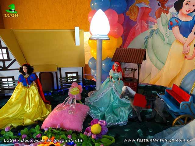 Decoração tema Princesas da Disney - Aniversário infantil