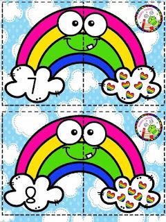 tarjetas-conteo-primavera-arcoíris-preescolar