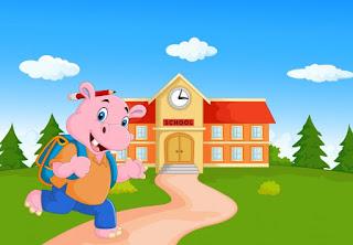 El hipopotamo inteligente va a la escuela