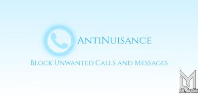 Blokir Nomor HP Memakai  Aplikasi AntiNuisance – Call Blocker and SMS Blocker