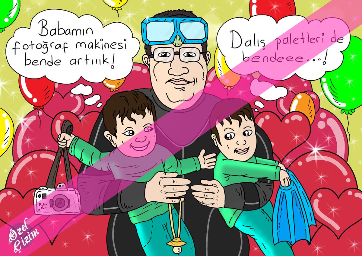 karikatür, kocama hediye, eşime doğum gününde ne hediye, babaya hediye, hediye karikatür, karikatür çizdir, fincana baskı, Resim Çizdir, Doğum günü hediyesi, babalar günü hediyesi,