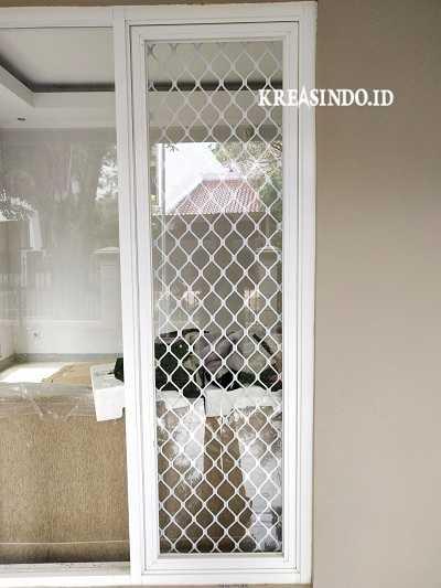 Pintu Expanda dan Teralis Expanda Aluminium terpasang di Rumah Bu Dewi Lebak Bulus Jakarta