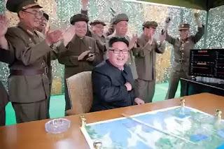 North Korean dictator Kim Jong-un ballistic missile launch