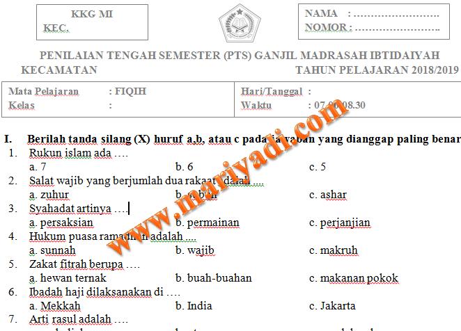 Contoh Soal Fiqih Kelas 4 Semester 2 Dan Kunci Jawaban Revisi Download File Guru