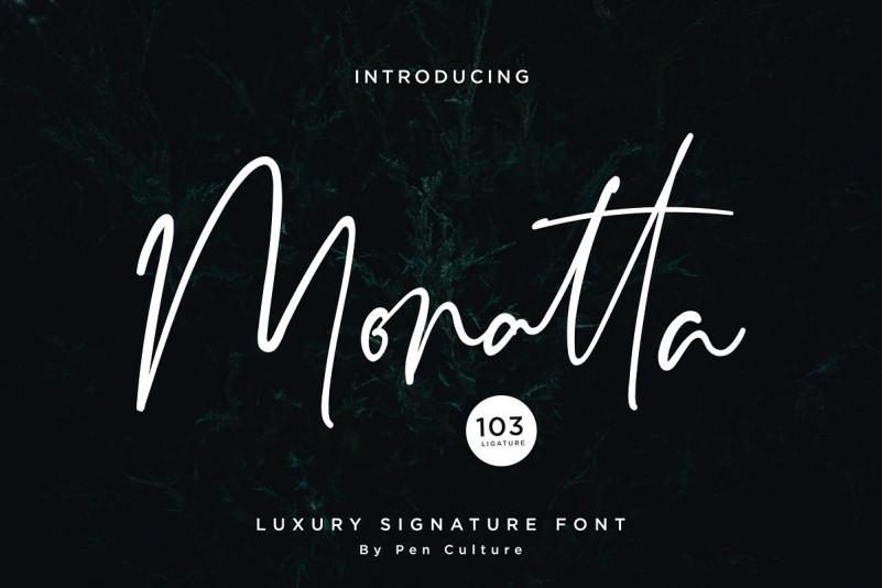 Monatta Font - Free Luxuy Signature Typeface