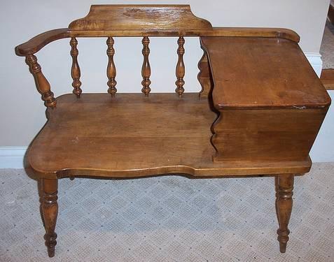 Oops Antique Gossip Telephone Bench