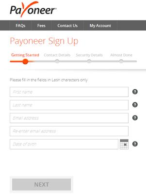 Cara Mendapatkan 25 Dollar Gratis dari Payoneer