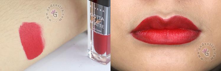 Review Rivera Gotta Be Matte Lip Cream 301 Vibrant Red