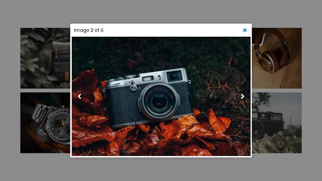 Responsive Image Lightbox using HTML CSS & JavaScript