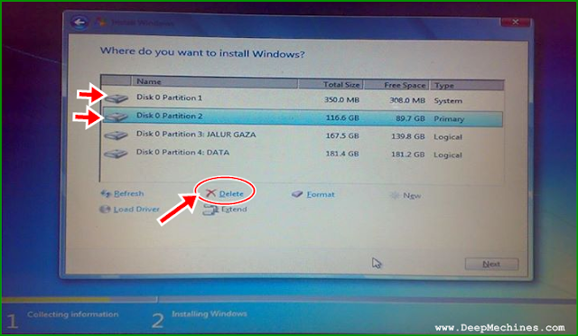 Panduan Instalasi Windows 7 dan Proses Menghapus Partisi