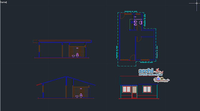 Single family house duplex in uruguay in AutoCAD