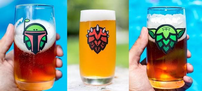 De una galaxia muy muy lejana os traemos los cuatro vasos de cerveza basado en personajes Star Wars