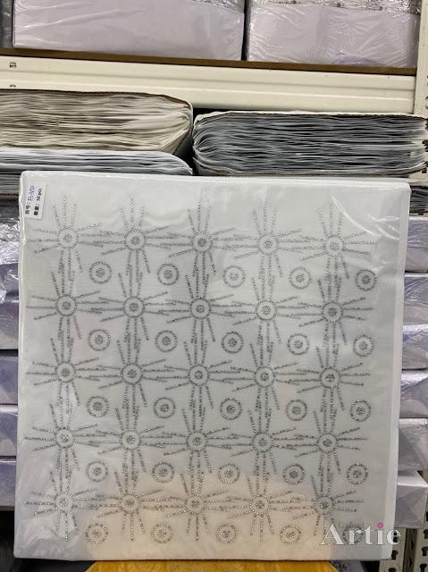 Hotfix stickers dmc rhinestone aplikasi tudung bawal fabrik pakaian bulatan 3 line silver