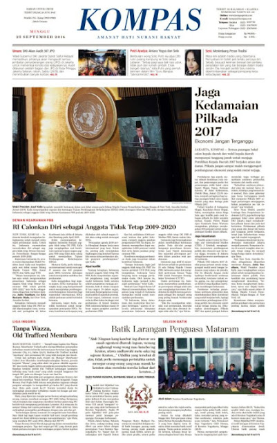Kompas Edisi Minggu 25 September 2016
