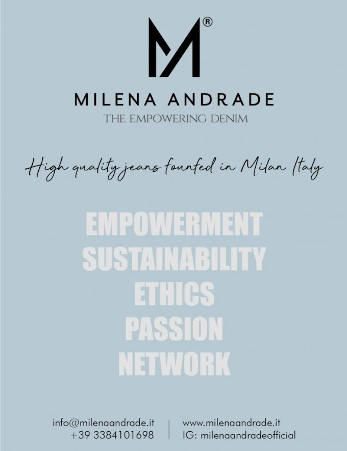 Alla Milano Fashion Week l'inaugurazione di Milena Andrade: protagonista il jeans
