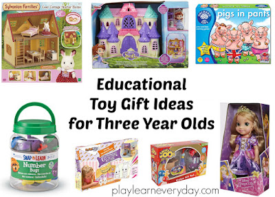 educational toy gifts for three year olds collage