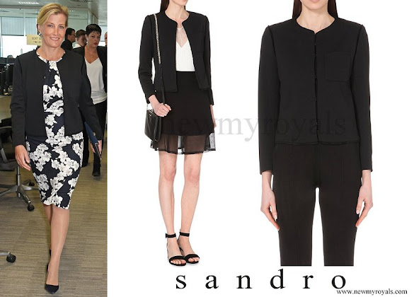 Countess Sophie wore SANDRO Valina Crepe Jacket