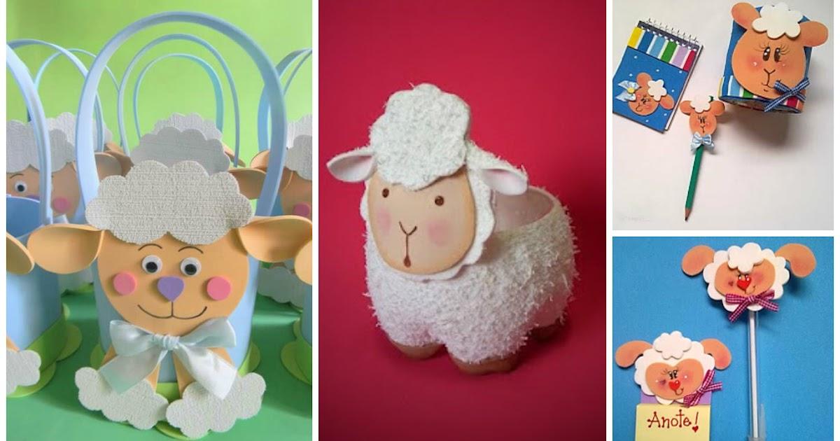 Todo tipo de manualidades con ovejitas en foami - Todo tipo de manualidades para hacer ...