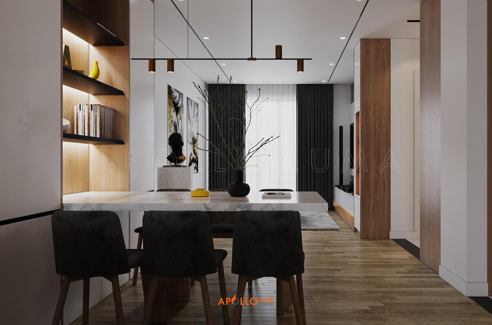 Thiết kế nội thất căn hộ 2 phòng ngủ (82m2) Imperia Sky Garden 423 Minh Khai