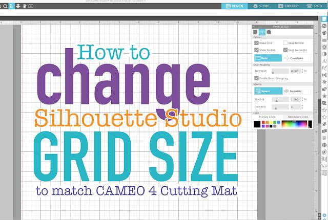 silhouette america blog, silhouette 101, page setup panel, grid lines, silhouette studio