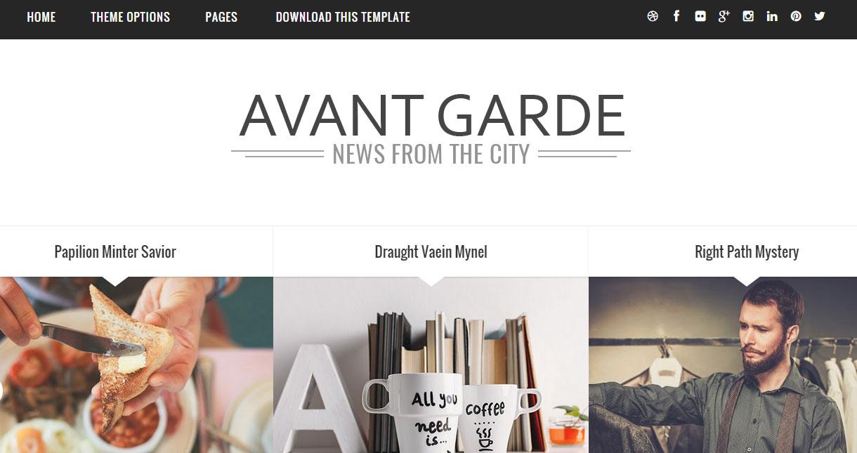 Avant Garde Responsive Blogger Template