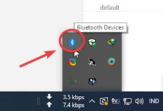 Cek apakah Bluetooth menyala di laptop