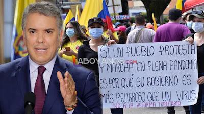 A pesar del malestar de millones de colombianos, Duque dice que no retirará la reforma tributaria