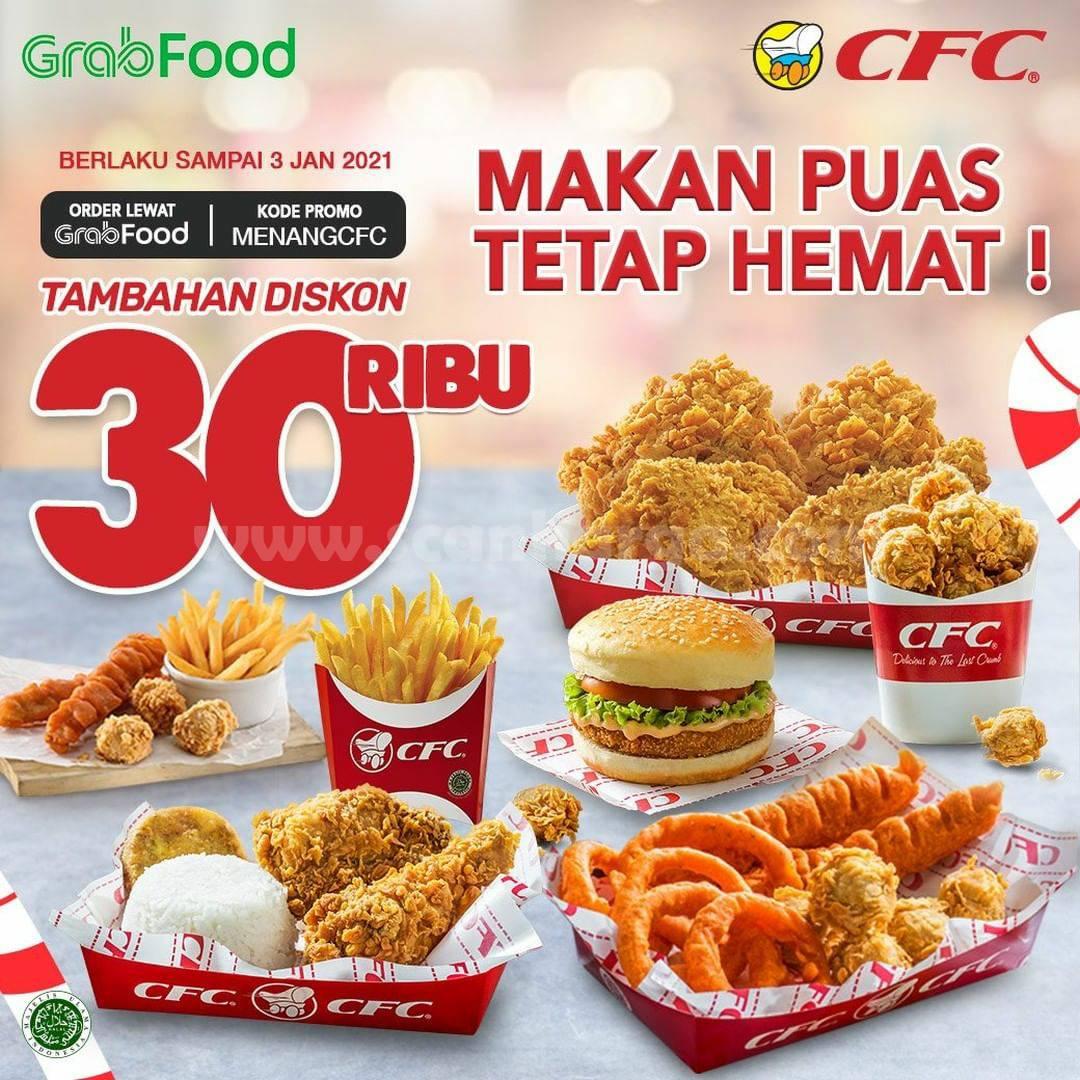 CFC Promo DISKON Tambahan Rp 30.000 pesan via GRABFOOD
