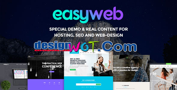 EasyWeb WordPress Theme For Hosting SEO and Web design Agencies