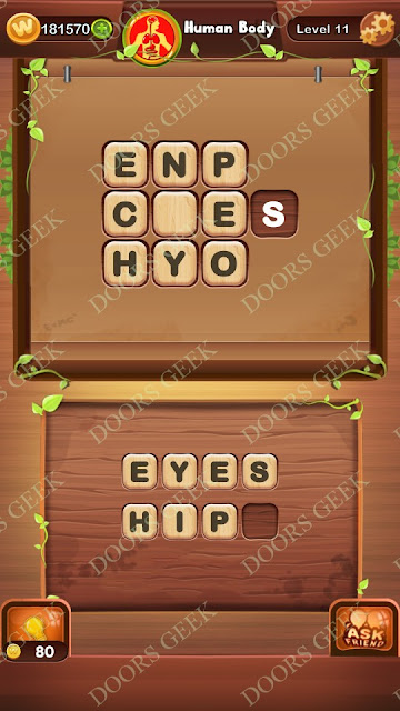 Word Bright Level 11 Answers, Cheats, Solutions, Walkthrough for android, iphone, ipad and ipod